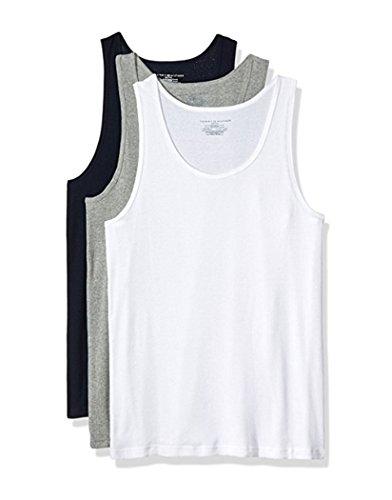 Tommy Hilfiger Men's Cotton Classics 3 Pack a Shirt, Carbon Heather, ()