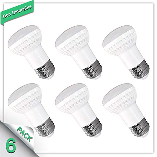 (6 Pack 2700K Warm White BR16 LED Bulb Non Dimmable 7W (50W-70W Equivalent), 700lm CRI 85+ 120°Beam Angle, R16 Wide Flood Light Bulb, Medium Base (E26/E27) for China Cabinet,Groovy Lamp,Wardrobe)