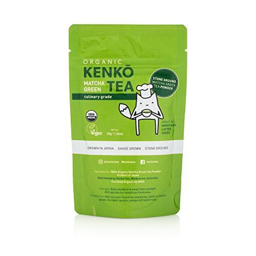 Matcha Green Tea Powder - USDA Organic Culinary Grade Matcha Powder 30g (1.06oz) for Green Tea Lattes, Smoothies and Baking. Suitable for Vegan, Paleo, Keto Diets. Gluten ()