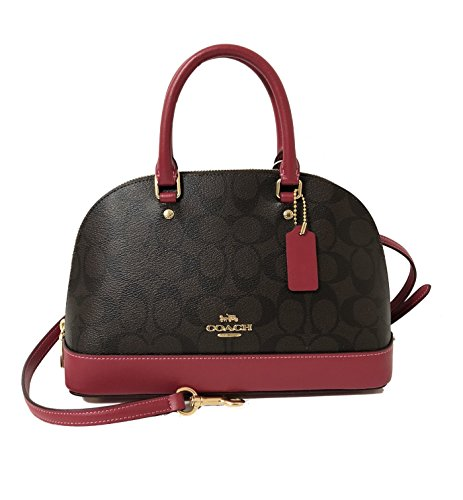 Iim Women��s Coach Shoulder Sierra Inclined Pink Satchel Mini Hot Handbag Shoulder Brown Purse zFdqnAwFp