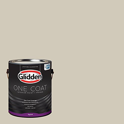 Glidden Interior Paint + Primer: Greige/Moth Gray, One Coat, Eggshell, - Interior 01 Flat Paint