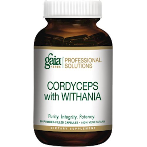 Gaia Herbs (Professional Solutions) Cordyceps with Withania 60 caps
