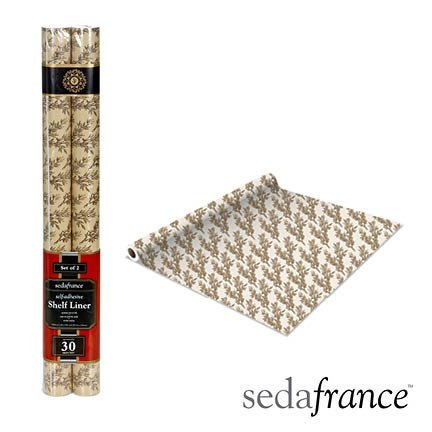 Review Self Adhesive Shelf Liner - 2 Pack - Toile Leaf By Seda France by Seda France