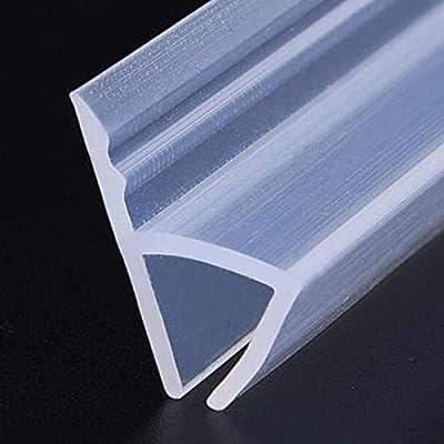 Limpie el sello de la tira de goma de silicona de la puerta de cristal de la ducha de H, barra for 6/8 mm 1pcs Ducha (Length : 1M, Thickness : 6mm):