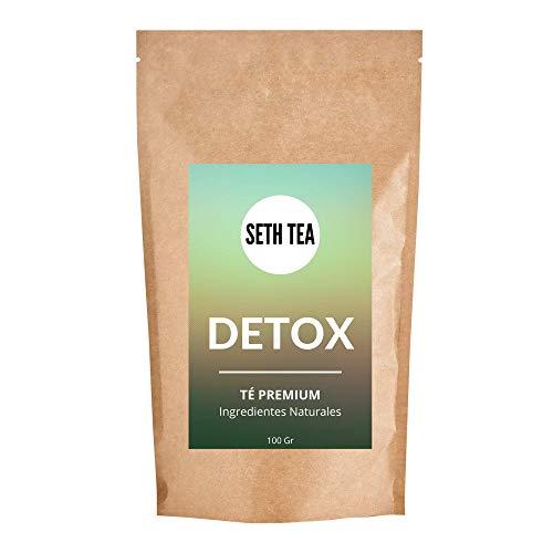 Seth Tea - Te Detox Adelgazante | Diuretico Natural para Eliminar la Retencion de Liquidos | 100grs (60 Dias) | Ingredientes Premium Te Verde, Yerba Mate, Te Blanco, Ortiga, Moringa