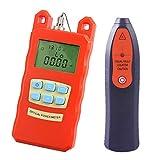Baosity AUA-70C Portable Optical Fiber Power Meter Tester Measure -70dBm~+10dBm + 30mW 20KM Visual Fault Locator Fiber Tester Detector Meter Pen Tools