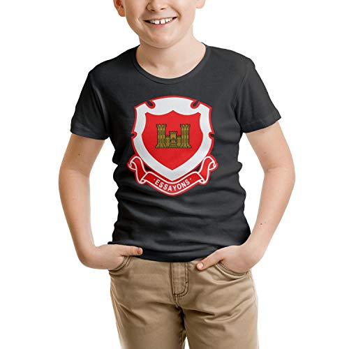 All Cotton Shirts Novelty for Girls US Army Corps of Engineers Regimental Crest T Shirts ()