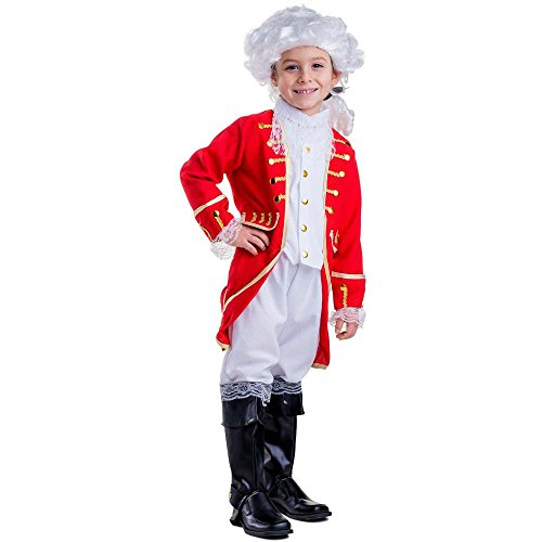 Child Colonial Soldier Costume (Deluxe Victorian Boy Costume By Dress Up America - Large 12-14)