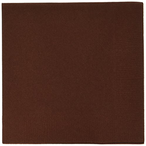 Chocolate Brown 3-Ply Beverage Napkins | Pack of 20 | Party Supply ()