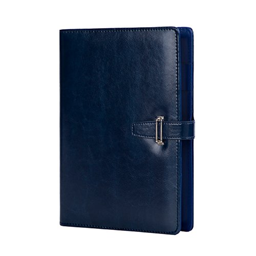 - Binder Journal A5 6 Rings Loose Leaf Diary Faux Leather Refillable Ruled Notebook With Pen Holder Card Slots