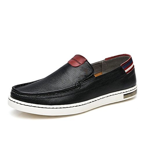 LEDLFIE Chaussures pour Hommes Chaussures Décontractées Chaussures en Cuir pour Hommes Black