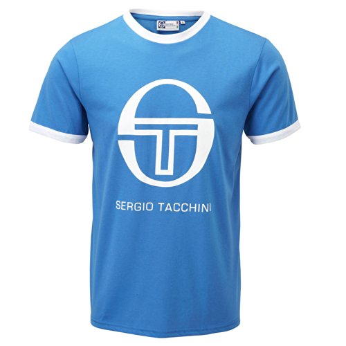 Sergio Tacchini Men's Short Sleeve T-Shirt - Worple - Medium Blue