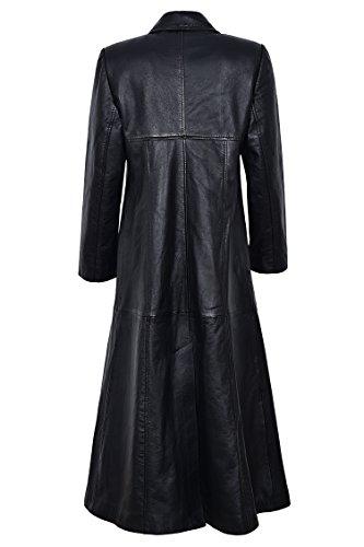 nera fodera gotico pelle rossa integrale in cappotto con 298 Ladies Cappotto sopra Trench HYx1BWSfw