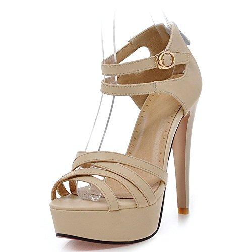 Fashion Heel - Zapatos de tacón  mujer Beige
