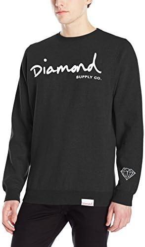 OG SCRIPT HOODIE Navy White Pullover Men/'s Sweatshirt Diamond Supply Co