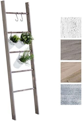 CLP Escalera de Decoración Mariette I Escalera Decorativa de Madera con 5 Peldaños I Toallero en Estilo Rústico I Color: Marrón Claro: Amazon.es: Hogar