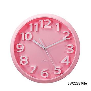 Amazon.com: Y-Hui Bedroom Wall Clock Round Super Silent Clocks ...