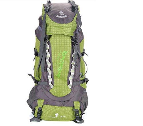Pack mochila exterior nueva gran capacidad mochila al aire libre los hombres y las mujeres 80 litros escalada , orange Green