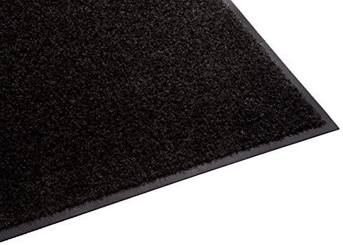 (Guardian Platinum Series Indoor Wiper Floor Mat, Rubber with Nylon Carpet, 5'x10', Black (Renewed))