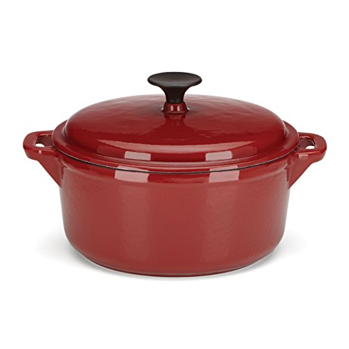 The Mexican Kitchen by Rick Bayless  4 quart Round Dutch Oven with Lid, Small, Red