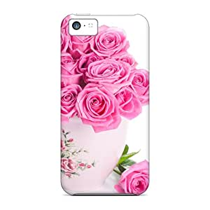 Fashionable ESc28232aicf Iphone 5c Cases Covers For Pink Roses Bouquet Protective Cases