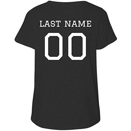 Custom Plus Size Football Player: Women's LAT Curvy Plus Size V-Neck (Mesh Custom V-neck)