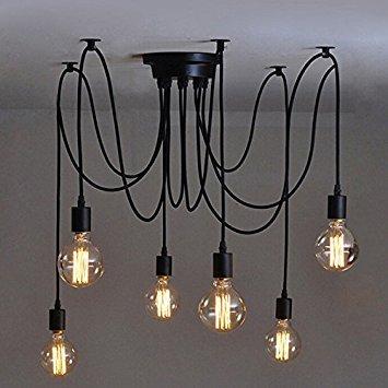 Wunderbar Olayer Loft Kronleuchter / Deckenleuchte / Pendelleuchte / Lampe Mit  Edisonsockel, Stil: Vintage