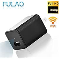 FULAO 1080P Spy Hidden Mini Wall Charger Surveillance Cam Wifi Wireless Portable Security Vedio Recorder Remote Camera