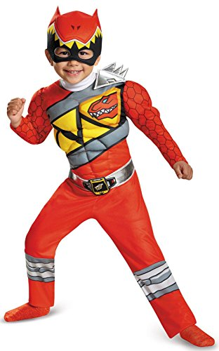 Disguise Red Ranger Dino Charge Toddler Muscle Costume, Small (Super Creative Group Halloween Costumes)