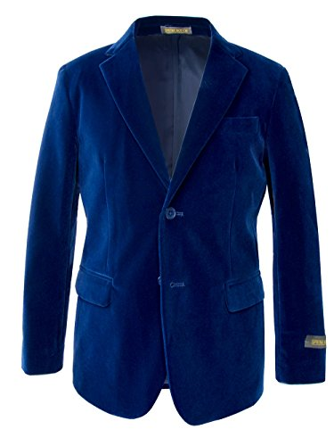Spring Notion Big Boys' Velvet Blazer Jacket 5 Royal ()