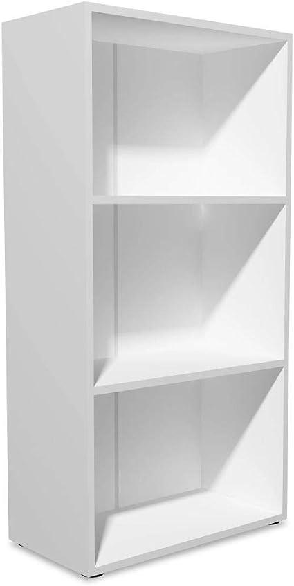 vidaXL Estantería 60x31x116,5 Madera Blanca Repisas Estante Mueble Organizador