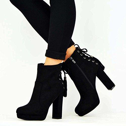 Noir Fashion Compensées Femme Cucu Sandales xZ0qI8qwP