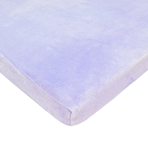 TL Care Heavenly Soft Chenille Fitted Cradle Sheet, Lavender