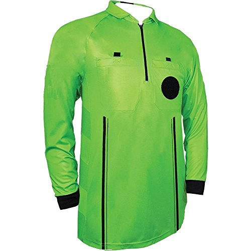 1 Stop Soccer Pro Referee Soccer Jersey Long Sleeves Free Referee ()