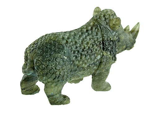 Rhino Carving in Labradorite Collectible Item by Simplicity (Image #3)