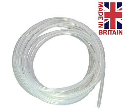 Silicone Rubber Tubing SP25-0.3 (2.5mm I/D x 0.3mm Wall) Clear - Various Sizes (1 Metre) Hilltop Products