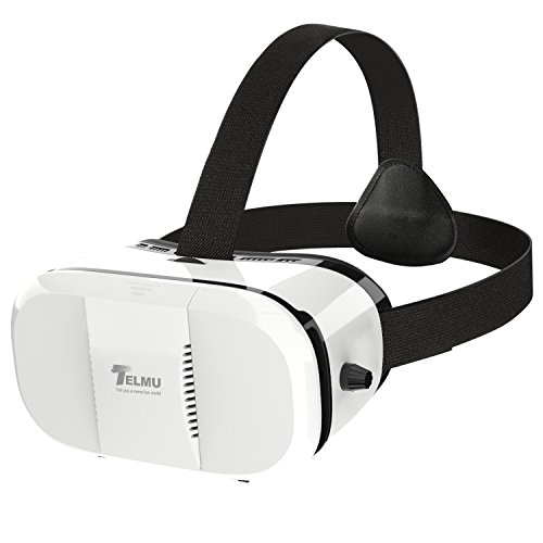Amazon Lightning Deal 100% claimed: Telmu 3D VR Virtual Reality Headset VR Box VR Glasses with Adjustable Lens and Strap for Android iOS Cell Phone 4.0-6.0 Inch for 3D Movies Games