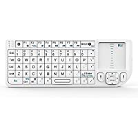 Rii K02+ 4 In 1 Mini Wireless Bluetooth Multi-media Keyboard with Touchpad Mouse ,Laser Pointer And Backlit For PC Laptop Raspberry PI HTPC IPTV Google Smart TV Android Box XBMC Windows Vista 7 8 10