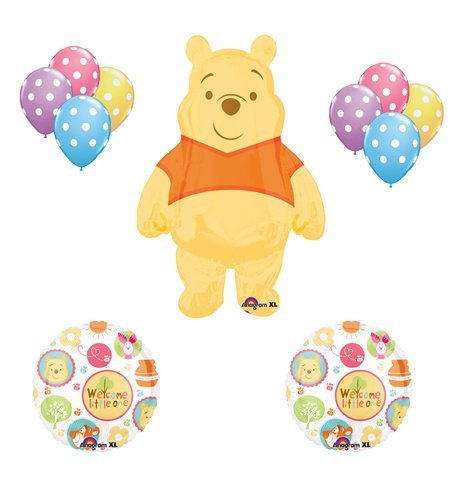 Winnie the Pooh Baby Shower Welcome Little One Balloon Bouquet Party (Winnie The Pooh Baby Shower Decorations)