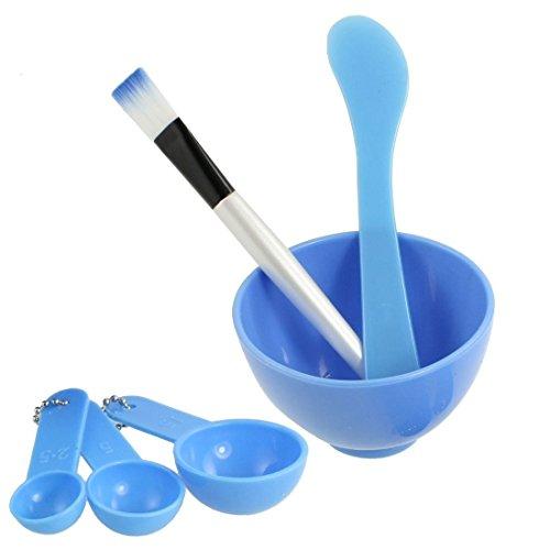 Lady Facial Skin Care Cosmetic 4 in 1 Mixing Mask Bowl Brush Measuring Spoon Mask Stick Kit Set AOSTEK(TM)