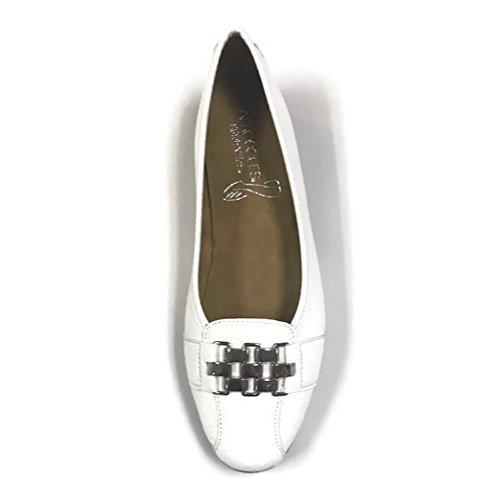 Aerosoles Womens Sure Bet Ballet Flat White Snake II5mE