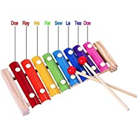 Piano Xylophone for Kids, Educational Musical Instruments Toyset for Babies, Toddlers Preschoolers, 8 Key Scales in Clear and Crisp Tones with Music cards Songbook