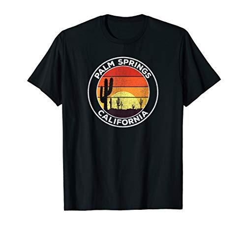 Vintage Palm Springs CA Gift Desert Sunset Cactus T-Shirt (Kids Palm Desert)