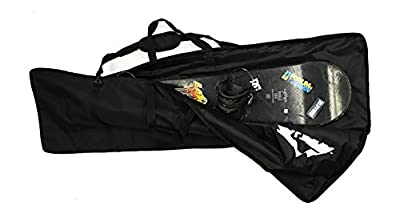 "Zaltana SKB20 Padded Snowboard Carier Bag Rack Holds (18""x64""), Black"