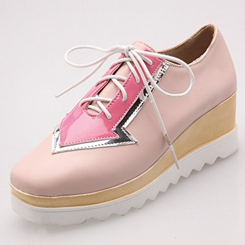 Boots Color Table pink with Fashion 5 the Shoes Shallow Mouth Fight Shoes Women's Waterproof EUR36 zqd1ww