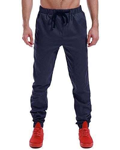 88 Elastica Especial Con Bobo Sportivi Vestibilità Estilo Da Regolare Dunkelblau2 Vita Jeans Cargo Uomo Chino Pantaloni Coulisse Jogging dxUqwFf