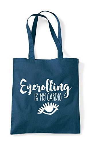 My Is Tote Cardio Eyerolling Bag Shopper Petrol 5dHxqw0t