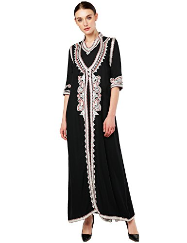Muslim Dress Dubai Kaftan for Women Half Sleeve Arabic Long Dress Abaya Islamic Clothing Girls Caftan Jalabiya 2pcs