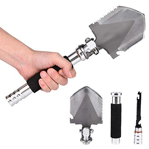 ANTARCTICA Military Portable Folding Shovel Multitool Compact Backpacking Tactical Entrenching Tool for Hunting, Camping(Silver) by ANTARCTICA (Image #1)