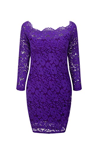 Quality Edition Europe and The United States Women's Long-Sleeved Lace Dress A Large Number of (Avalon 9 Drawer Dresser)